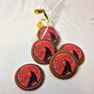 Chinese New Year Zodiac Cookies, Year of the Rooster