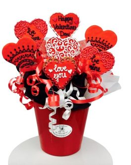 Red Romance Cookie Bouquet