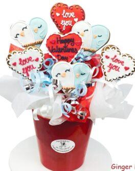 Love Birds Cookie Bouquet