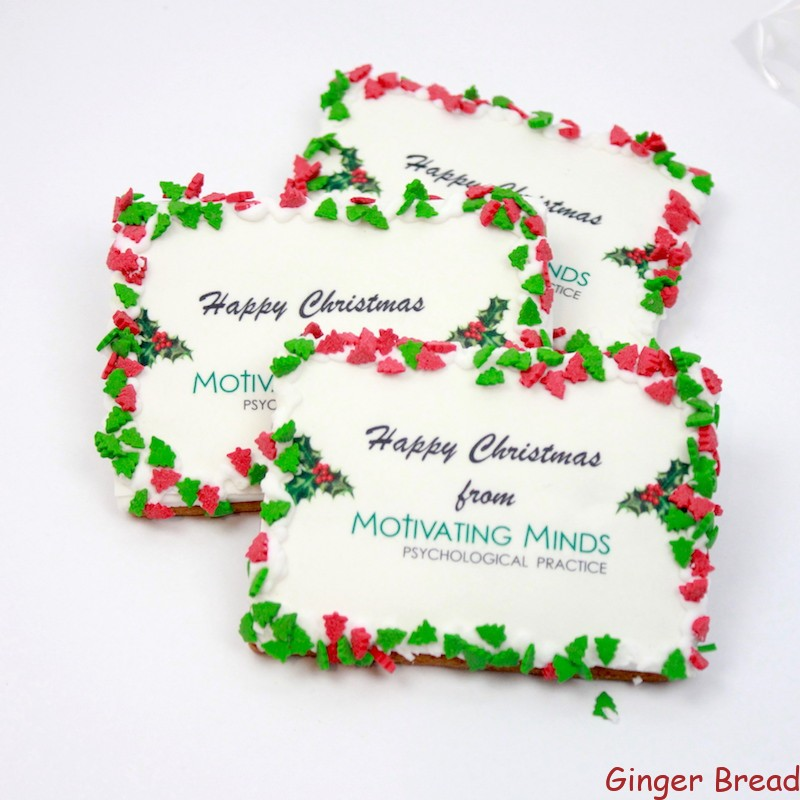 Christmas Cookie Cards Ideal For Christmas Business Gifts