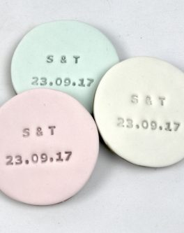 Imprinted Round Favours
