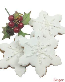 Cookie snowflake pearled