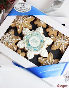 Sparkle Snowflakes Xmas Cookie Gift Box