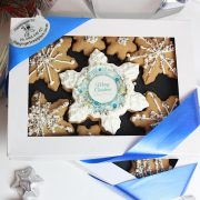 Sparkle Snowflakes Xmas Cookie Gift Box