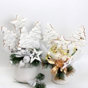Cookie bouquet gold and silver sparkle