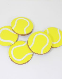 Tennis ball cookie favours