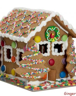 Cheerful gingerbread house