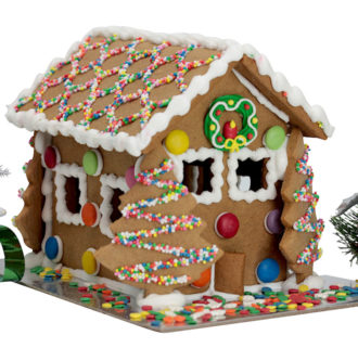 Cheerful gingerbread house web