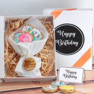 Cookie Gift boxes Happy birthday Unicorns web