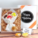 Cookie Gift boxes Happy birthday girls faces web