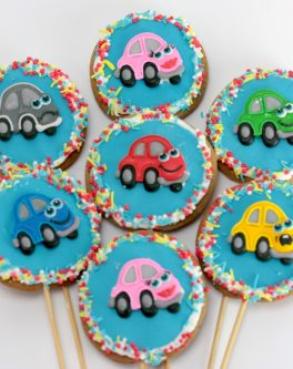 Transport Cars party cookies