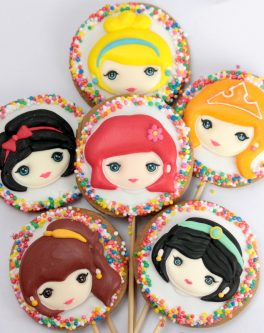 Princess Face party cookies