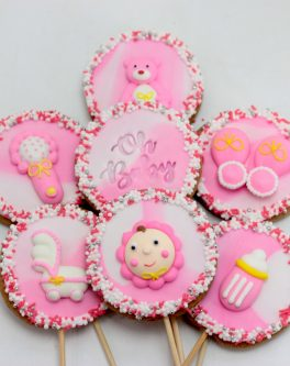 Baby Girl party cookies
