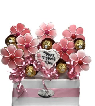 Mothers Day Cookie bouquet with Ferrero Rocher Chocolaes