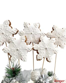 Snowflake cookie Pops